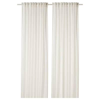 DYTÅG Curtains, 1 pair, white, 145x300 cm