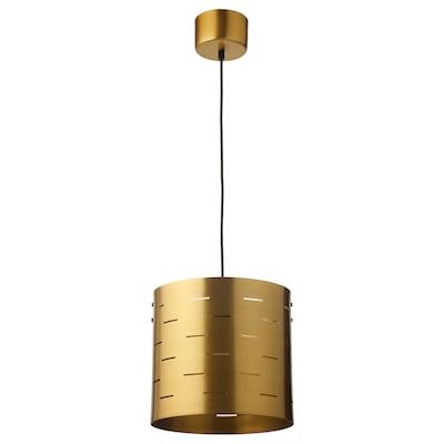 EBBEMÅLA Pendant lamp, brass-colour