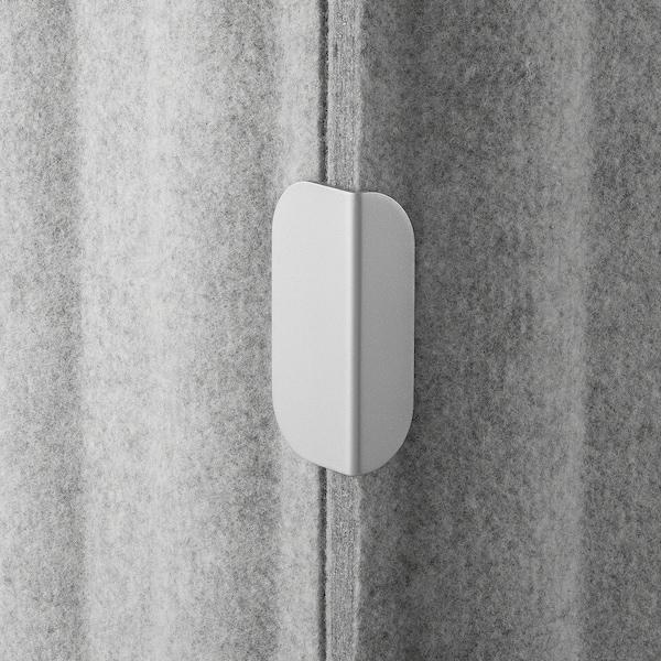 EILIF Screen for desk, grey, 80x48 cm