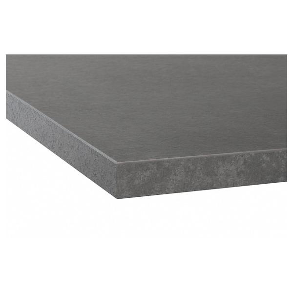 EKBACKEN Worktop, concrete effect/laminate, 186x2.8 cm