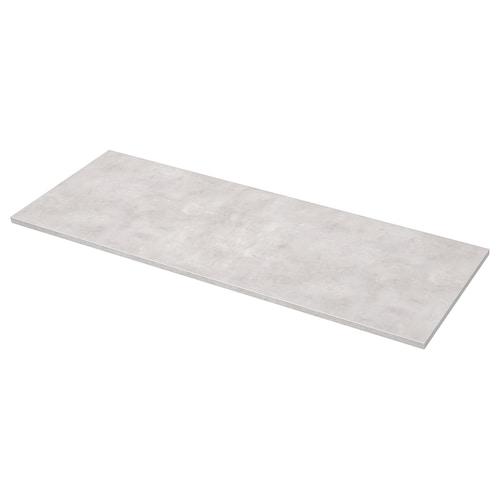 EKBACKEN worktop light grey concrete effect/laminate 186 cm 63.5 cm 2.8 cm