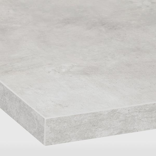 EKBACKEN Worktop, light grey concrete effect/laminate, 246x2.8 cm