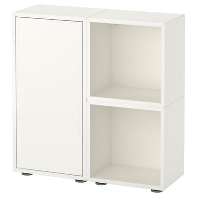 EKET تشكيلة خزانات بأرجل, أبيض, 70x25x72 سم