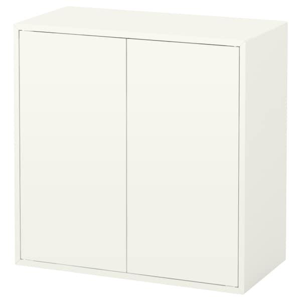 EKET خزانة ببابين و رف واحد, أبيض, 70x35x70 سم