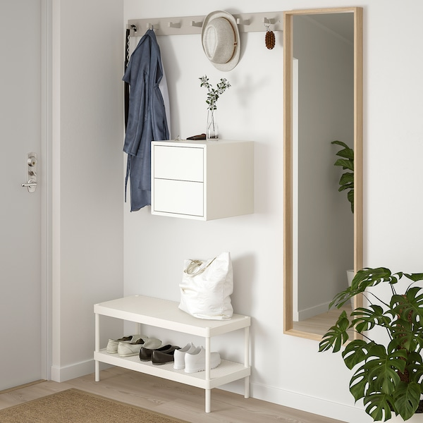 EKET Wall cabinet with 2 drawers - white - IKEA