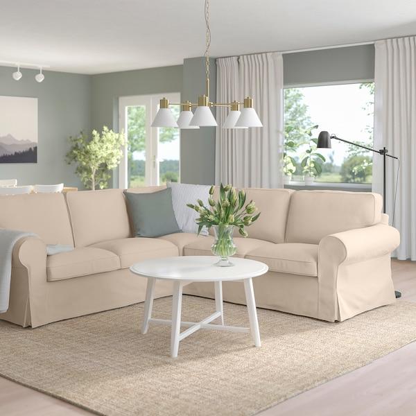 EKTORP Corner sofa, 4-seat, Hallarp beige