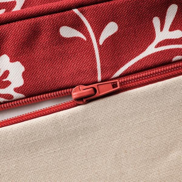 EKTORP كنبة زاوية، 4 مقاعد, Virestad أحمر/أبيض