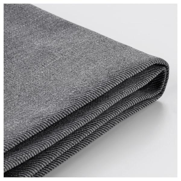 EKTORP cover for 3-seat sofa with chaise longue/Nordvalla dark grey