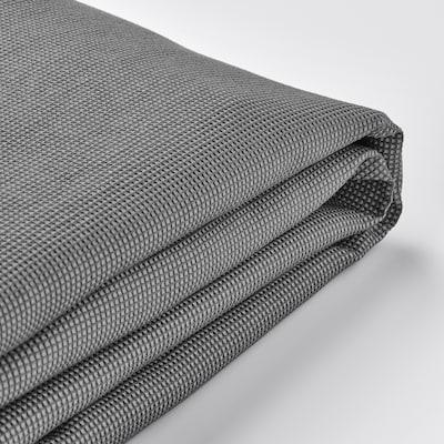 EKTORP غطاء كنبة ثلاث مقاعد, مع أريكة طويلة/Remmarn رمادي فاتح