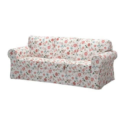 Ektorp three seat sofa videslund multicolour ikea - Canape ektorp 3 places ikea ...