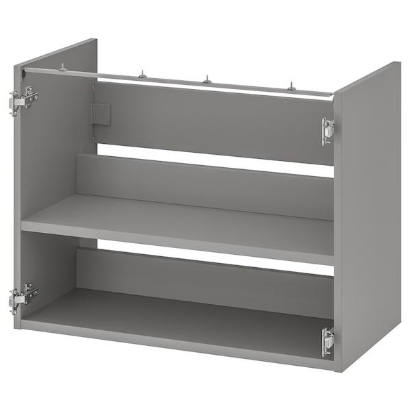 ENHET Base cb f washbasin w shelf, grey, 80x40x60 cm
