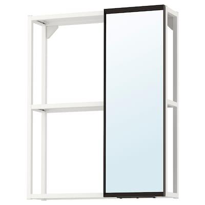 ENHET خزانة ذات مرآة, أبيض, 60x17x75 سم