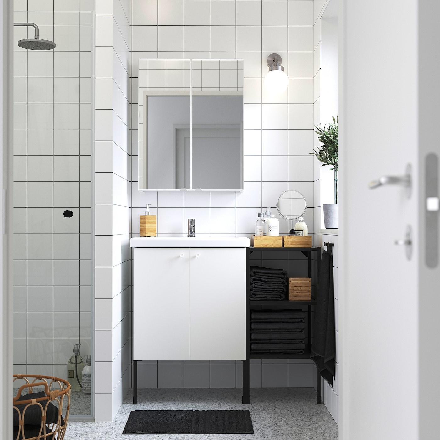 ENHET / TVÄLLEN Bathroom furniture, set of 14 - white ...