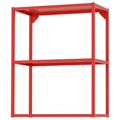 ENHET هيكل حائط مع أرفف, أحمر-برتقالي, 60x30x75 سم
