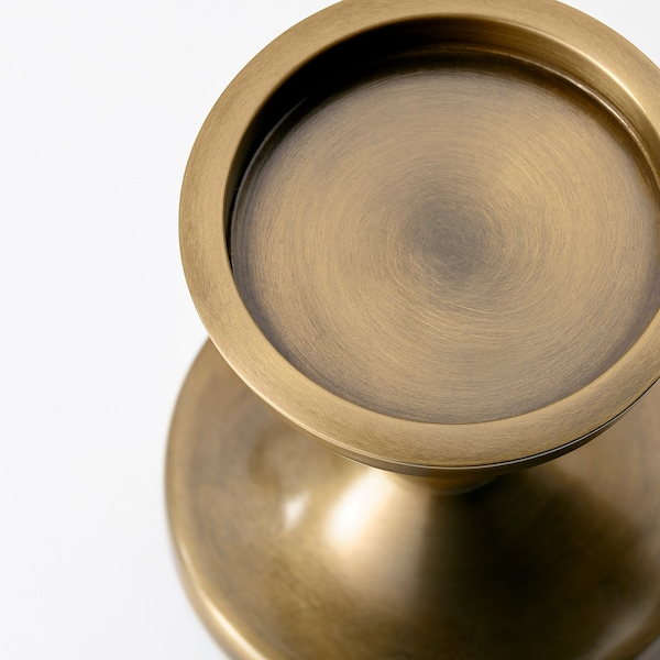 ERSÄTTA block candle holder brass-colour 13 cm 13 cm