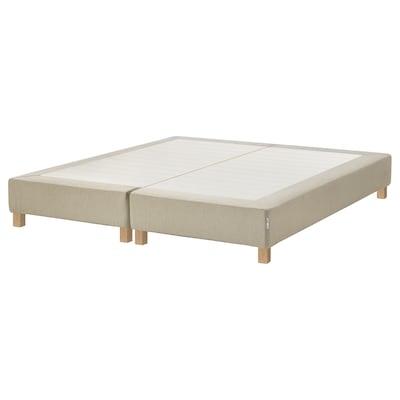 ESPEVÄR Slatted mattress base with legs, natural, 160x200 cm