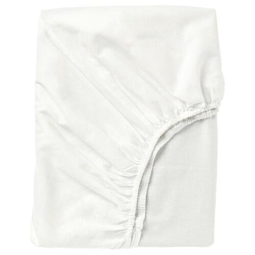 FÄRGMÅRA fitted sheet white 104 /inch² 200 cm 140 cm