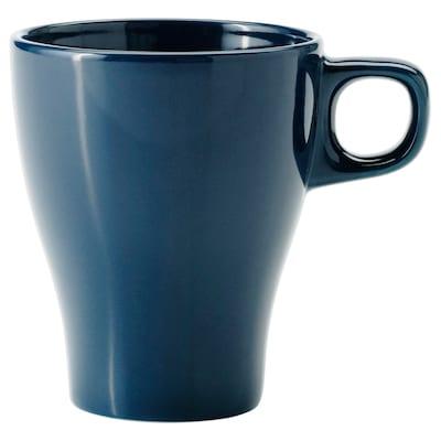FÄRGRIK Mug, dark turquoise, 25 cl