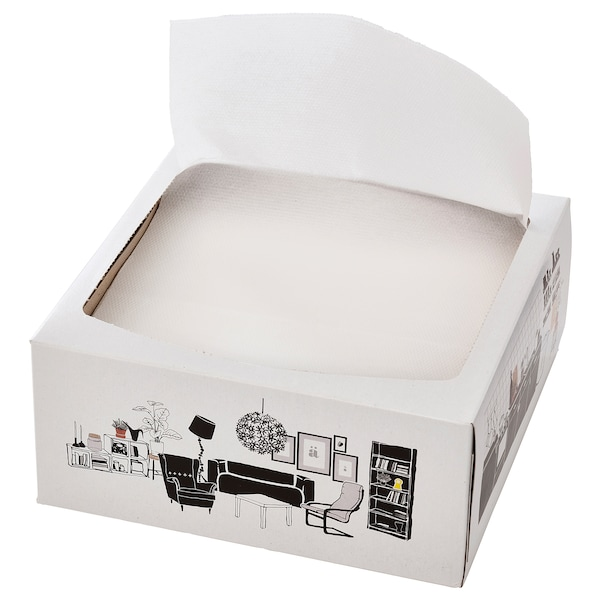 FAMILJ مناديل ورقية, أبيض, 16x32 سم