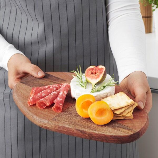 FASCINERA chopping board mango wood 28 cm 19 cm 1.8 cm