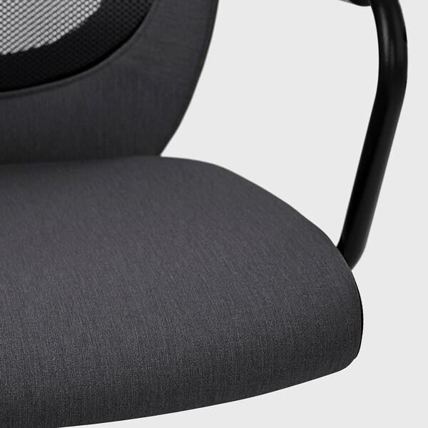 FLINTAN / NOMINELL كرسي مكتب بمساند ذراعين, رمادي