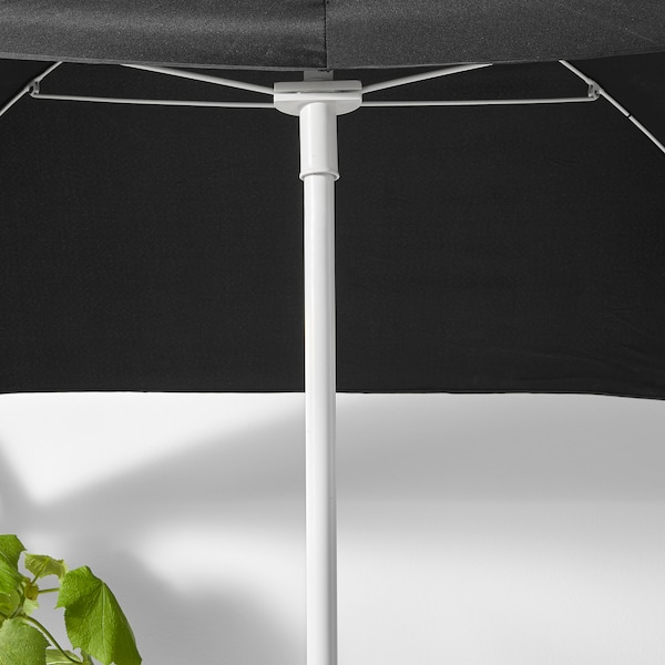 FLISÖ Parasol, black, 160x100 cm