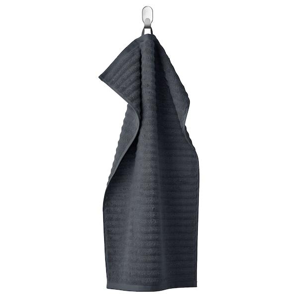 FLODALEN Hand towel, dark grey, 40x70 cm