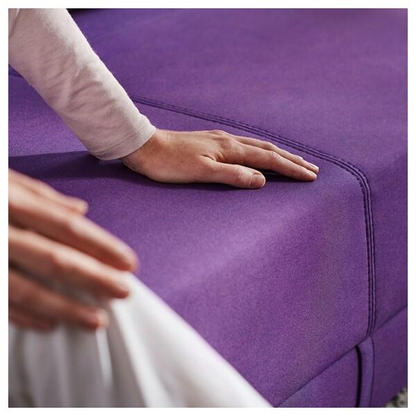FLOTTEBO Sofa-bed, Vissle purple, 90 cm