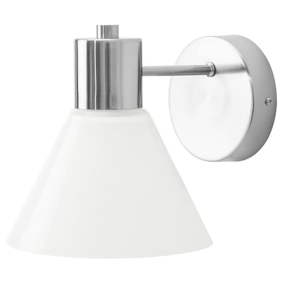 FLUGBO Wall lamp, wired-in installation, nickel-plated/glass