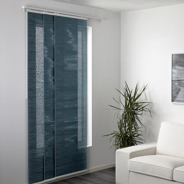 FÖNSTERVIVA Panel curtain, blue/grey, 60x300 cm
