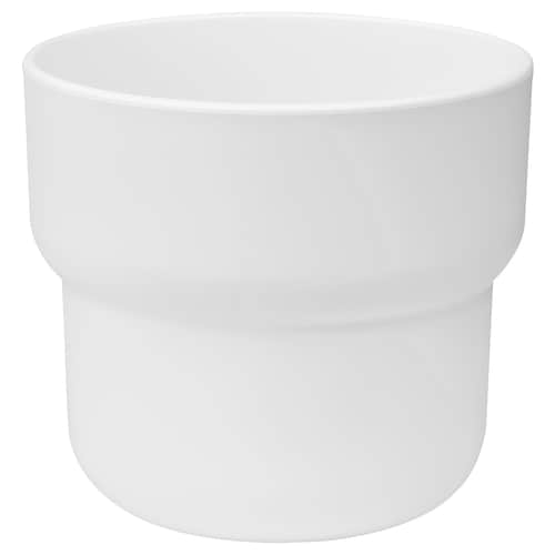 FÖRENLIG plant pot in/outdoor white 10 cm 10 cm 9 cm 9 cm