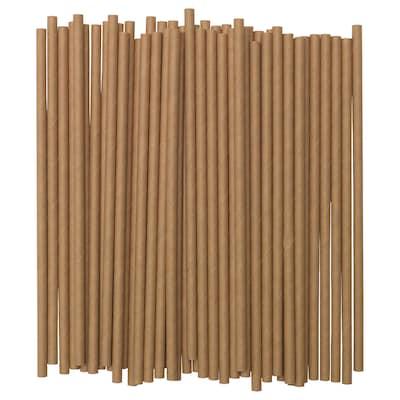 FÖRNYANDE Drinking straw, paper/brown