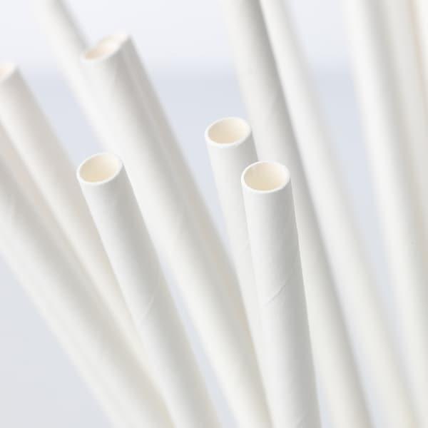 FÖRNYANDE Drinking straw, paper/white
