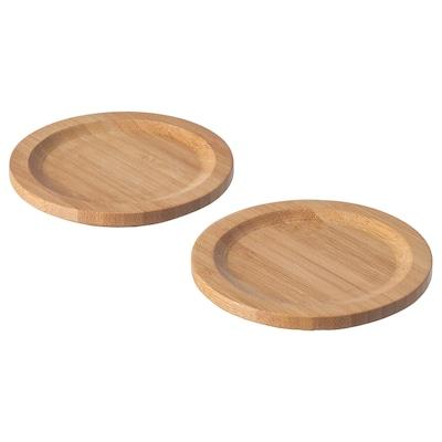 FÖRSEGLA Coaster, bamboo, 9 cm