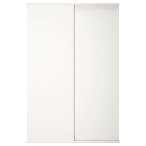 FONNES sliding door with rail white 120 cm 180 cm