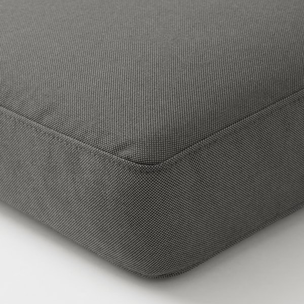 FRÖSÖN/DUVHOLMEN seat cushion, outdoor dark grey 62 cm 62 cm 12 cm