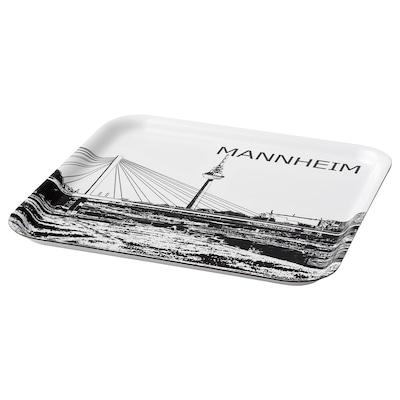 FRUKTKULTUR صينية, أبيض/أسود/آفاق مانهايم, 33x33 سم