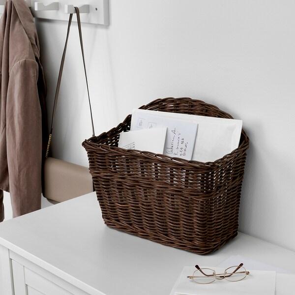 GABBIG basket dark brown 39 cm 23 cm 35 cm
