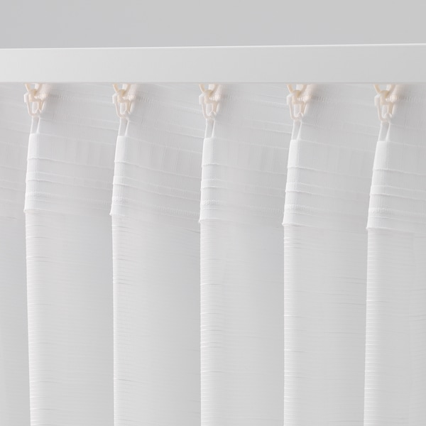 GJERTRUD Sheer curtains, 1 pair, white, 145x300 cm