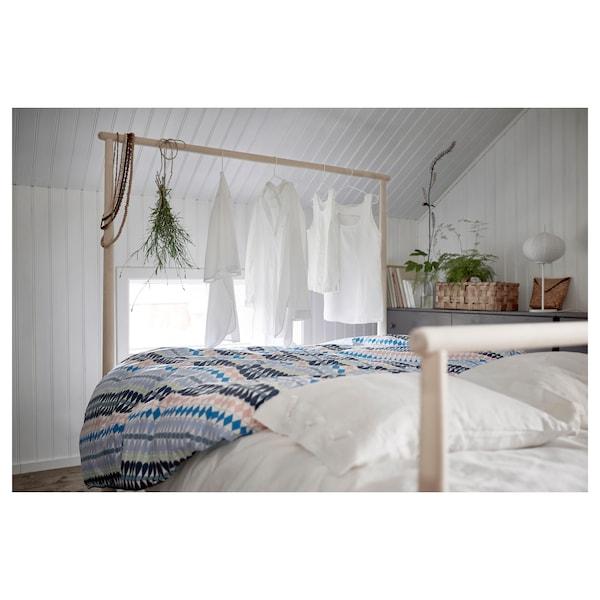 GJÖRA Bed frame, birch/Luröy, 140x200 cm