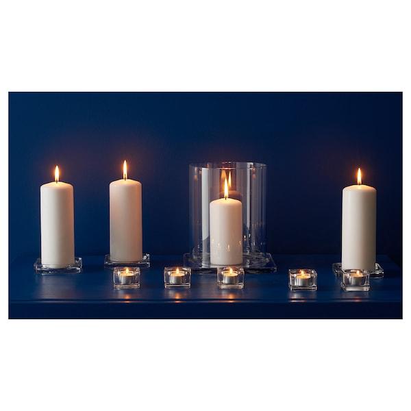 GLASIG صحن شمع, زجاج شفاف, 10x10 سم