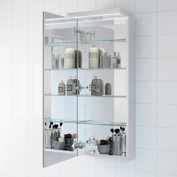 GODMORGON خزانة بمرآة مع 1 باب, زجاج مرايا, 40x14x96 سم