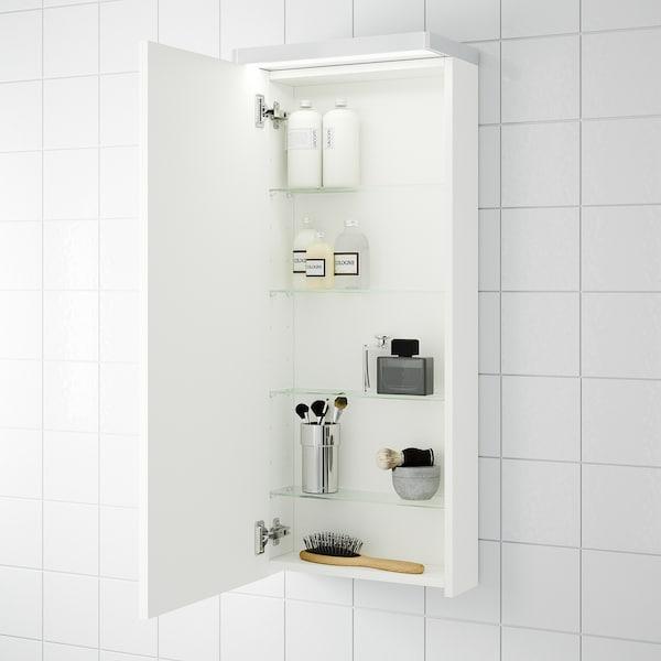 GODMORGON خزانة حائط مع 1 باب, أبيض, 40x14x96 سم