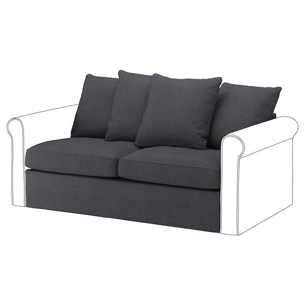 GRÖNLID قسم كنبة-سرير بمقعدين, Sporda رمادي غامق
