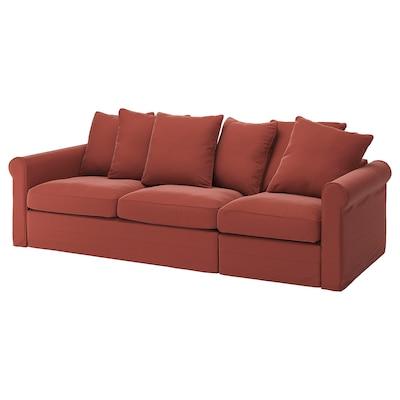 GRÖNLID 3-seat sofa-bed, Ljungen light red