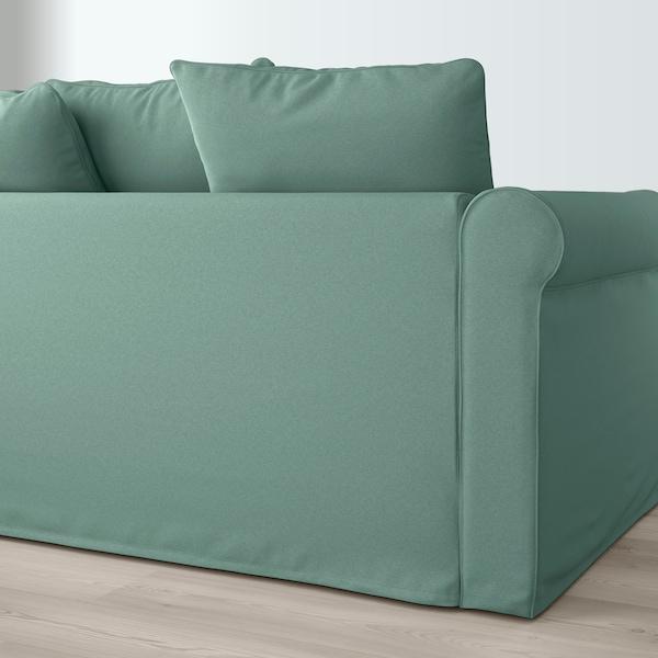 GRÖNLID 4-seat sofa, with chaise longue/Ljungen light green