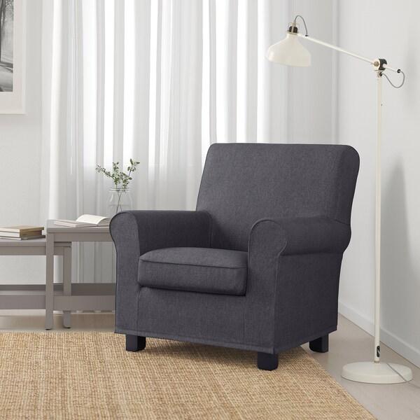 GRÖNLID Armchair, Sporda dark grey