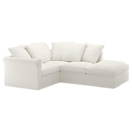 GRÖNLID corner sofa, 3-seat with open end/Inseros white 104 cm 98 cm 235 cm 182 cm 7 cm 18 cm 68 cm 60 cm 49 cm