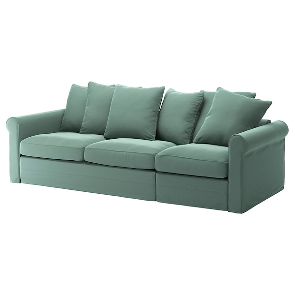 GRÖNLID Cover for 3-seat sofa-bed, Ljungen light green
