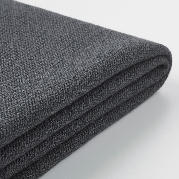 GRÖNLID غطاء كنبة ثلاث مقاعد, مع أريكة طويلة/Sporda رمادي غامق